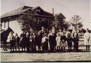 In 1909 Scottsdale voters unanimously passed a $5,000 bond issue to build the Little Red Schoolhouse/Scottsdale Grammar School.  Scottsdale Historical Society photo